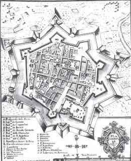 10-pianta della mirandola risalente al xviii secolo