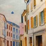 Via Milazzo dipinta da Giuliana Mecugni