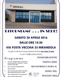 30 aprile  inaugurazione croce blu