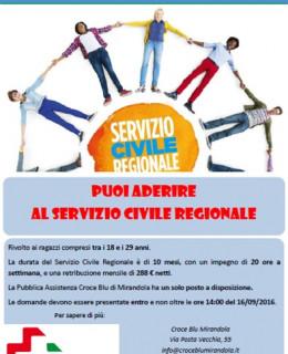 2016 09 16 CROCE BLU - servizio civile regionale