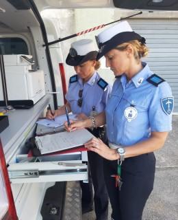 Polizia Municipale durante controlli