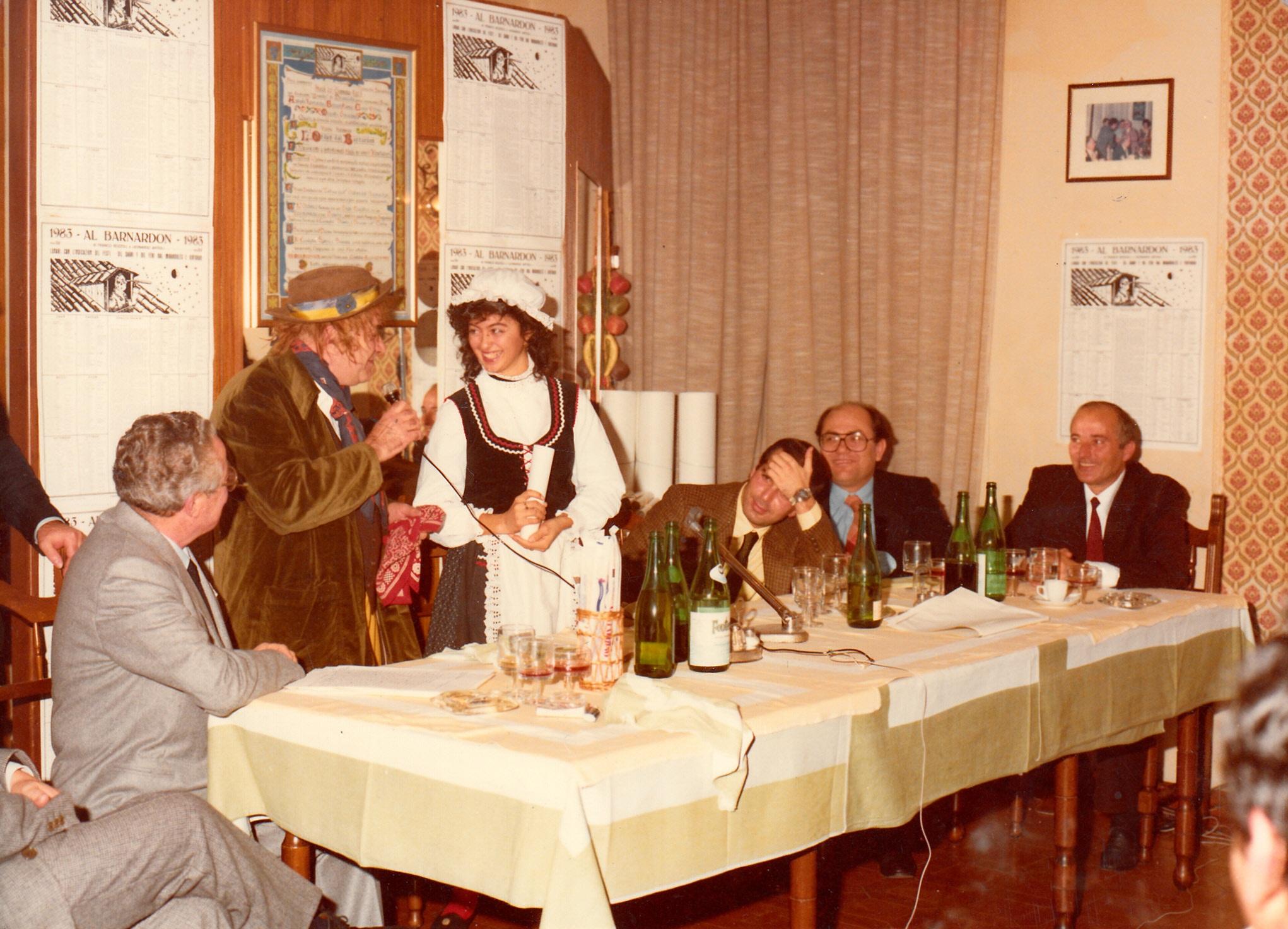 1983 le maschere di Tugnon e la Mirandolina