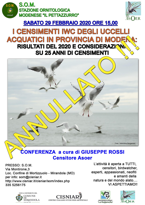 LOCANDINA conferenza censimenti IWC G. Rossi 2020 annullatojpgvv