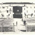 San Giacomo Roncole (Mo) 1938. Un'immafine del primo cinema all'aperto con il velario steso sopra gli spettatori per proteggerli dall'umidità delle serate estive.