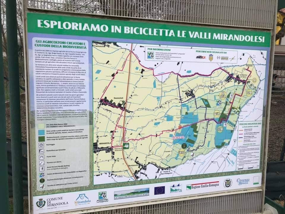 Mirandola_mappa_percorsi_ciclabili