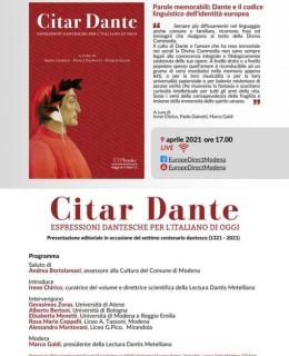9 Aprile Citar Dante